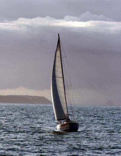 Pointe de Carolles et Mt-St-Michel en arrière plan